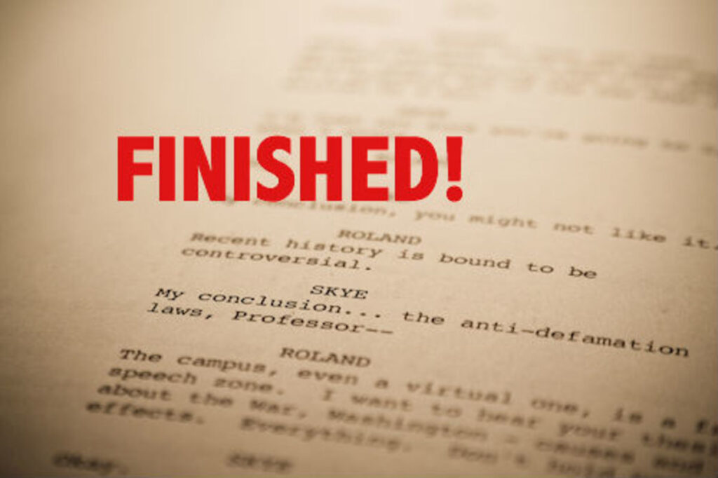 What To Do With A Finished Screenplay