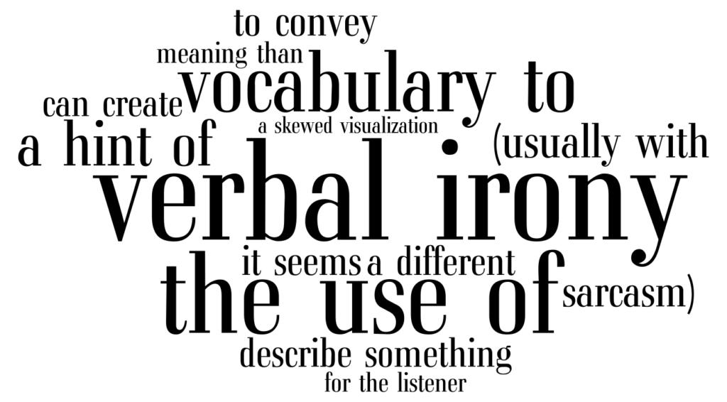 How To Write Verbal Irony